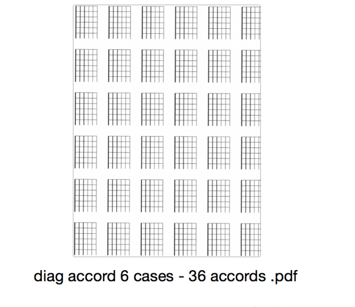 diag accord 6 cases - 36 accords