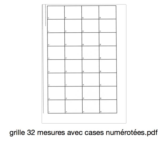 grille 32 mesures avec cases numérotées