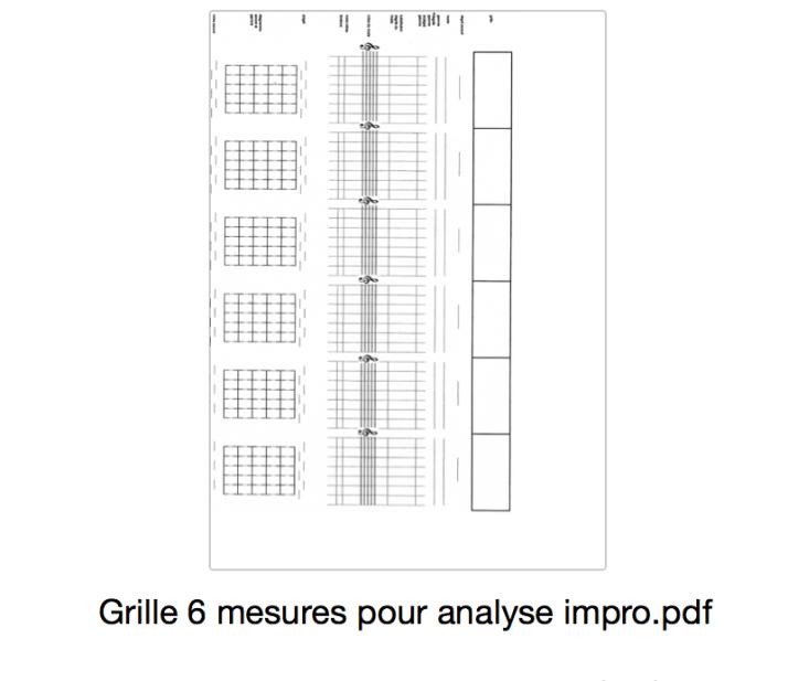 grille 6 mesures pour analyse impro