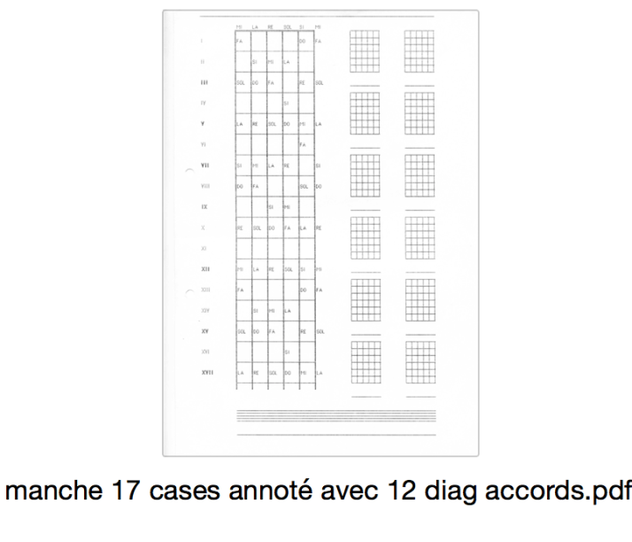 manche 17 cases annoté avec 12 diag accords