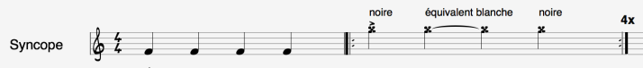 syncope noire blanche noire