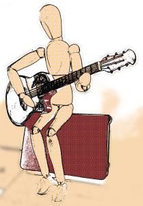Guitariste assis