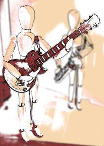 Guitariste debout