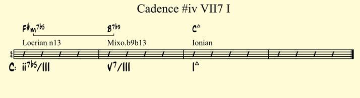 Cadence #iv VII7 I