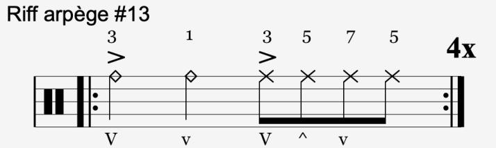 riff arpège #13