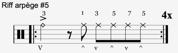 riff arpège #5