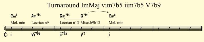 Turnaround ImMaj vim7b5 iim7b5 V7b9